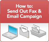 How to send out fax and email campaign